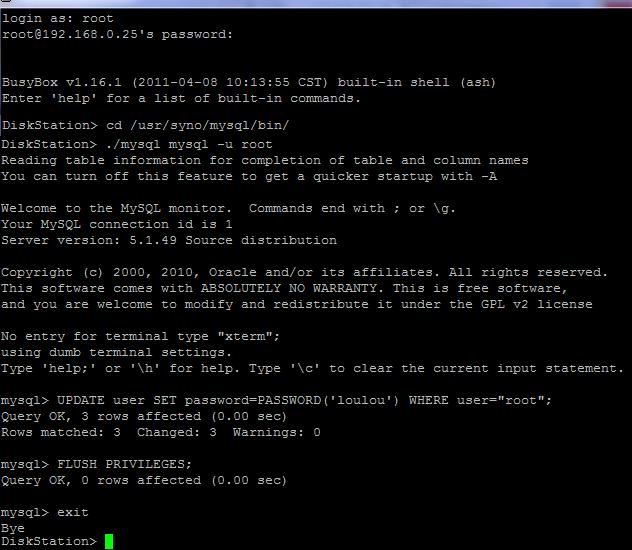 Initialiser_mot_de_passe_MySQL_Terminal_Synology