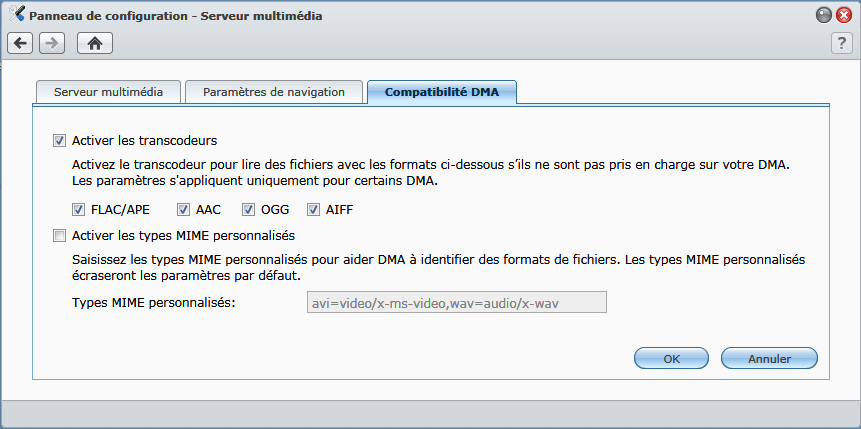 Synology_activer_transcodeurs_audio_DLNA