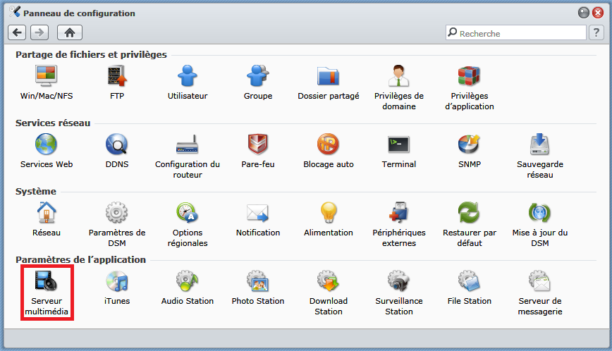 Synology_panneau_de_configuration_serveur_multimedia