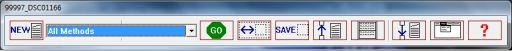 Barre d'outils du logiciel CombineZP