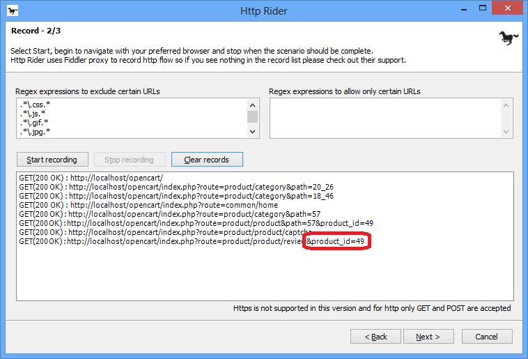 Enregistrer des actions utilisateurs avec HTTP Rider